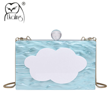 UKQLING Women's Evening Cluth Minaudiere Day Clutches Banquet Dinner Bag for Party Purse Shoulder Ladies Box Hand Bag New 2018(China)