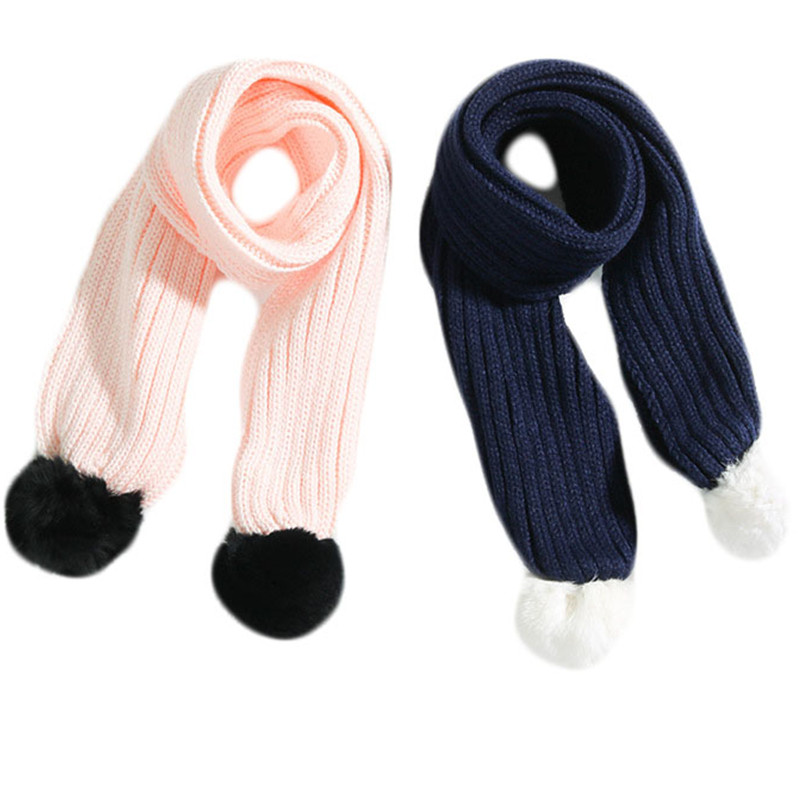 Children\'s Cotton Scarf Baby Fashion Knitted Autumn and Winter Baby Neck Collars Kids Handmade Scarf Cute Wool Boy Girl Collar