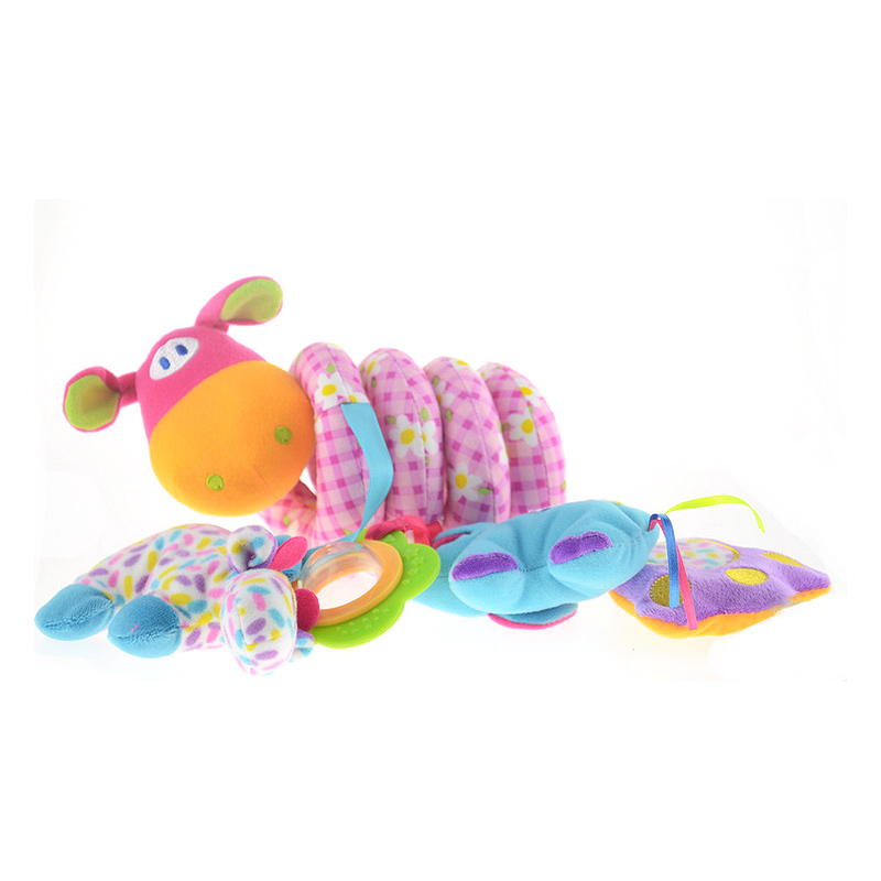 Animal Bed Bell Children Babies Bed Bumpers Crib Musical Rattles Toys Girls Boys Elephant Cattle Bed Bell Rings