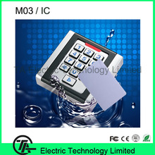 Single door  IC/MF card access control M03 waterproof IP68 door lock system standalone access control with night light