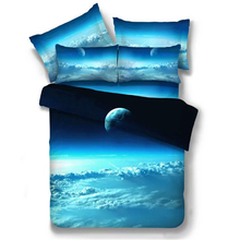 New 3D Nebala Outer Space Galaxy Bedding Set Twin Queen Size 2 or 3 or 4 pcs Polyester Cotton Duvet Cover Pillow Cases Bedlinen