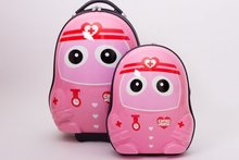 "13""16"" Cartoon The nurse Cute  Pink Travel Trolley Case Luggage bags Suitcase with Wheels for Children kids Luggage"