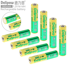 Delipow 8pcs AAA 1.2V 380mAh High Energy Ni-Mh LSD Rechargeable Battery Safety Relief Valve for Toys / Cameras / Headlamps