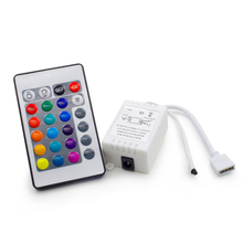 12V 24Key led rgb IR RF Infrared wireless controller for 3528/2835/5050 LED strip RGB 12V 24 Keys Wireless controller no battery