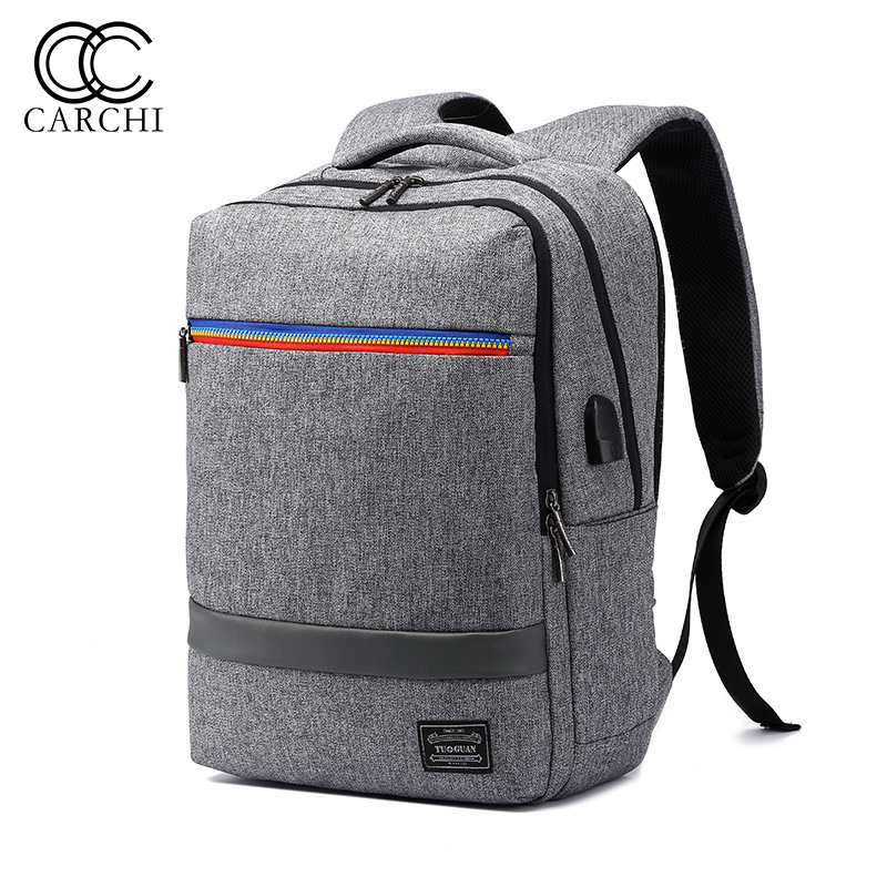 CARCHI USB Charge Canvas Unisex Backpack Bag Brand Laptop Notebook Back Pack School Backpack Bag Fashion Male Mochila Wholesale<br>