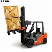 KAWO 1:22 Scale Fork Life with Pallets Large Toy Truck Inertia of Combustion Forklifts