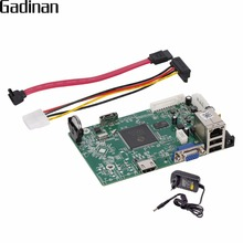 GADINAN NVR DVR Network Video Recorder DIY Main Board 8CH 1080P/12CH 960P 1 SATA HDD Cable Onvif Support XMEYE CMS with Adapter(China)
