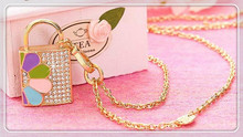 100% real capacity pendrivecrystal jewelry lock key chain diamond usb flash Drive 32GB 16GB 8GB pen drive 64GB S212