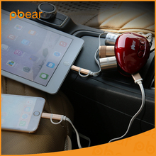 Dual USB Car Charger + Dual Cigarette Lighter Charger boost drive Car Charger for Samsung Iphone ipod ipad Cameras PDAs