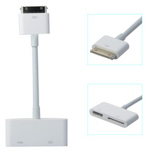 Digital AV HDTV Adapter 30 Pin Charge Port to HDMI Dock Connector Cable for ipad 2/3/4 iPhone 4 iPod Touch 4(China)