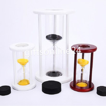 2 Sizes,Wood Sand Glass Clock Hourglass Timer Decor,Empty,put your wedding ceremony sand(China)