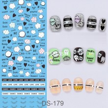 Manicure Watermark Large Sheet Heart Panda Series Stickers Decals Japanese Nail Art Sticker Decal DS176-182