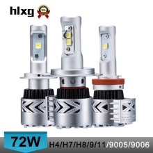 2016 new super bright 12000 lumen 72W H4 high low dual beam 8G car led headlights bulb conversion kit h7/h8/h9/h11/9005/9006/hb3