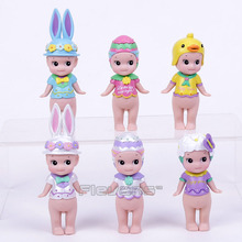Sonny Angel Mini pvc Figure Easter Series 6pcs/set Sonny Angel Collectible Model Toys Christmas & Brithday Gift Boxed(China)