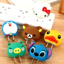 Cartoon Cute Phone Charger Adapter Plug Universal Power Adapter For Xiaomi iPhone Samsung Android Charger Cover Case