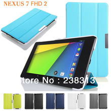 Ultra Slim Folio Stand PU Leather Magnet Smart Case(Auto Wake/Sleep) Cover For ASUS Google Nexus 7 2nd 2 Gen II 2013 FHD Tablet