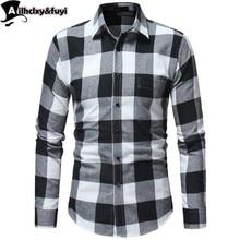 Homens Camisa Xadrez Primavera Outono Casual Manga Comprida Camisa Conforto  Macio Slim Fit Estilos Marca Roupas dfda7a35969ca