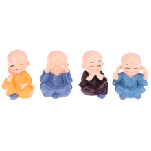 1 set Car styling Little Monk Car Decoration Lovely Car Interior Accessories Doll Ornaments Car decoration Accessories New(China)