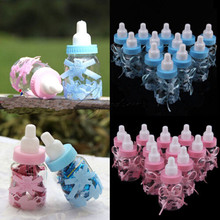 12 Feeding Bottles for Baby Shower Favors Blue Pink Party Decorations Girl Boy Baby Accessories