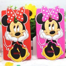 New High Quality Cartoon 3D Mickey Minnie Silicone Case for Nokia XL Dual SIM RM-1030 / RM-1042 Cover Phone Bag Cases Back Cover