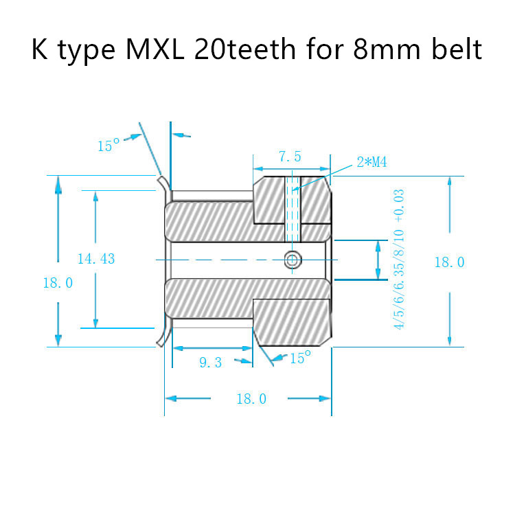 K-MXL-20T-5B-8