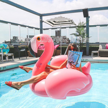 Mattress Water Gigantic Pink Flamingo Pool Inflatable Floats Pool Toys Swimming Float Adult Floats Inflatable 150cm Kickboard(China)
