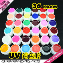 #20204 New Fashion GDCOCO UV Gel 36 Colors UV Nail Gel Kit Nail Art Decoration Tips Pure Color Gel UV Nail Art Diy color uv gel