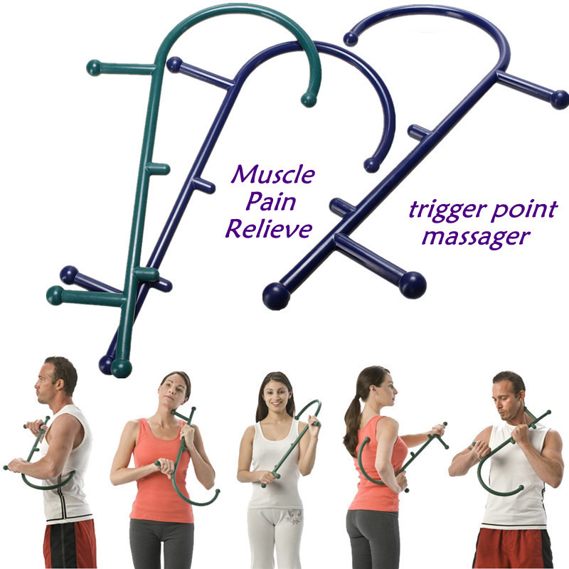 THERACANE Theodore Cane Muscle Pain Relieve Trigger Point Massager Acupuncture Therapy Back Hook Self Massage Tool<br><br>Aliexpress