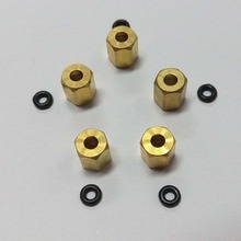 Printer Ink Damper Copper Nut Screw Joint M7 O Ring for Mutoh Rockhopper Falcon Roland Versacam Damper Ink Tube Connect 3mm Pipe(China)