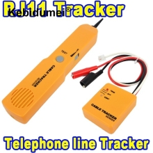 kebidumei Durable Handheld Telephone Cable Tracker Phone Wire Detector RJ11 Line Cord Tester Tool Kit Tone Tracer Receiver