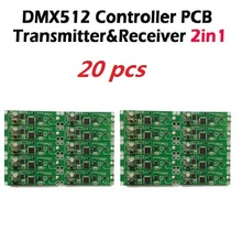 DHL Free shipping 20pcs 2in1 wireless dmx 512 Controller transmitter & receiver PCB module DMX Stage Lighting Controler(China)