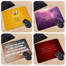 Jake Motivational Quote Dude Yellow Personalized Mouse Pad Luxury Rectangular Anti-slip Computer Mouse Gaming Pad Best Gift