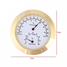 New Alloy Golden Round Humidity Moisture Thermometer Hygrometer Case For Guitar Violin Mini Portable thermometer