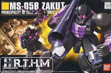 Bandai HGUC 68 MS-05B Zaku I Black Tristars Gundam Model Kit Assembled Model scale model