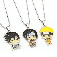 NARUTO Necklace Naruto Sasuke Pendant Uchiha Itachi Fashion Necklaces Children Gift Anime Jewelry Accessories YS12047