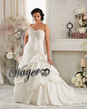 Popular Sweetheart Lace Appliques A-line Pin Up Plus Size Wedding Dress Plus Size High Quality vestido de noiva plus size 2015