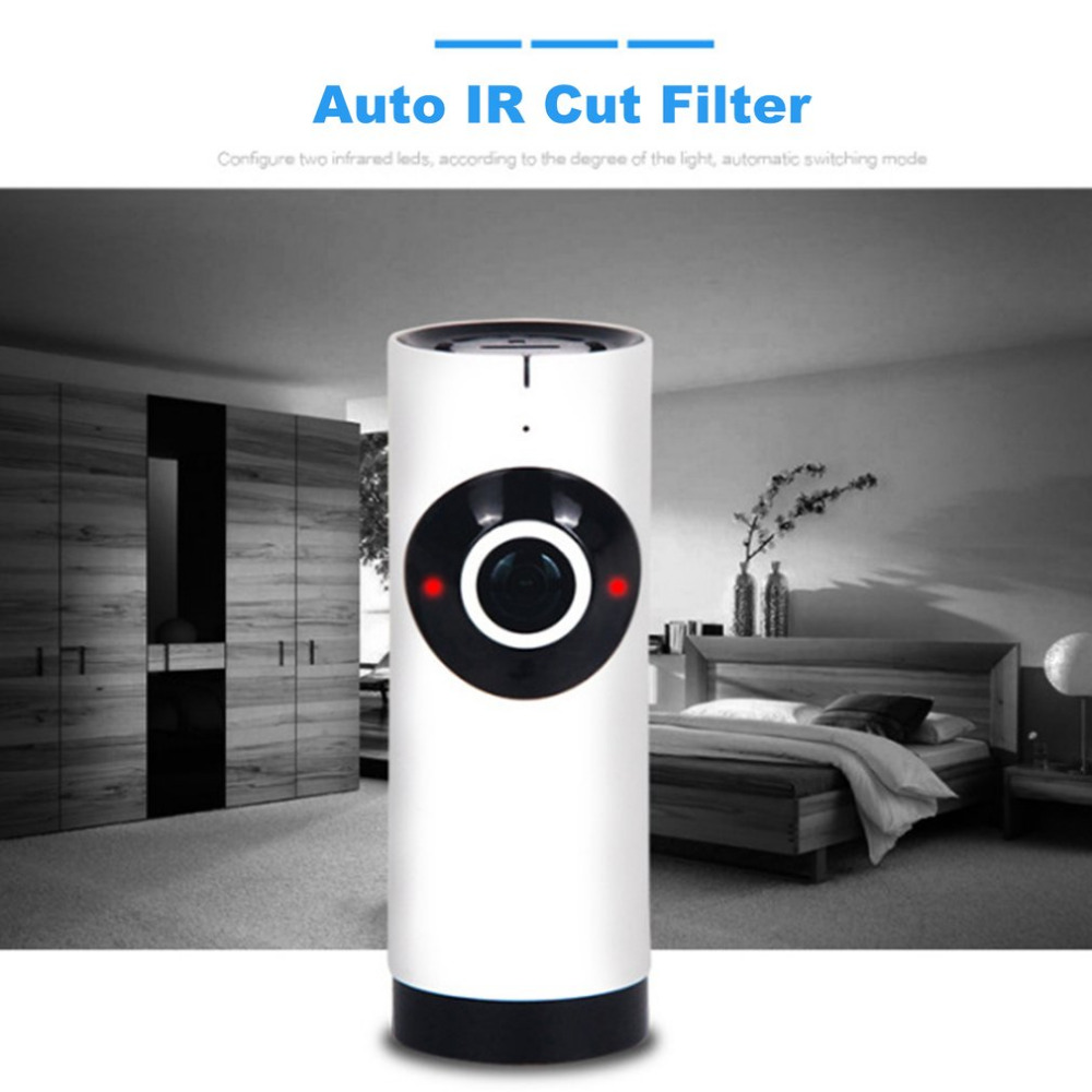 180 Degree Mini WiFi CCTV Security Camera HD 720P Surveillance Monitor Home Security IP Camera IR Night Vision Two Way Voice <br>