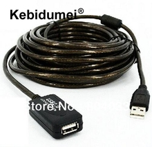 kebidumei 32FT 10M USB 2.0 Extension Repeater Cable Booster A Male to A Female Wight amplifier IC for printer Cable