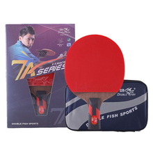 Genuine Double Fish Master 7A Table Tennis Bat Ping Pong Racket with case racquet sports carbon blade fast attack loop(China)