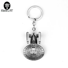 Star Trek Spacecraft U.S.S. Enterprise Air Plane Charm Keychain Key Ring Pendant Film Collection Wholesale(China)