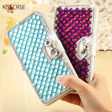KISSCASE Bling Crystal Diamond Case Glitter Rhinestone Card Slot Leather Phone Cover For Samsung Galaxy S5 S6 Edge Plus S7 Edge