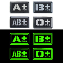 Blood Type ABO Tactical Morale Patch Useful Blood Group Military Combat Armband Badge Clothing Badge For Jackets Jeans Hat Cap