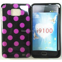 Hot Polka Dot Point TPU Soft Cover Case For Samsung Galaxy S2 SII i9100 Phone Case Free(China)