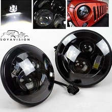 "For Jeep JK 7"" Round Headlight Led For Jeep Wrangler 97-15  Hummer Toyota Defender 7"" LED Harley Motorcycle Headlamp For Harley"