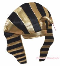 Egypt Halloween Pharaoh School Party Costume Warm Hat Headgear Adult Kids Child