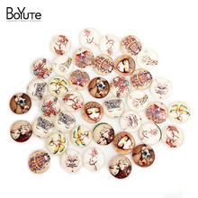40Pcs 14 mm Glass Cabochon Mix Butterfly Tower Clock Grid Lattice Flower Image Cabochon Jewelry Findings XL5396(China)