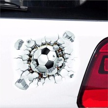 Super Cool Football Styling 3D Effect Car Stickers Graphics Decal Stickers 18x15cm Car Accessories Auto Parts Decoration