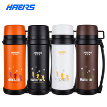 Haers Brand 1.5L Double Stainless Steel Insulated Vacuum Bottle Climb Travel Sports Vacuum Thermos 12-24 Hours Thermal Pot