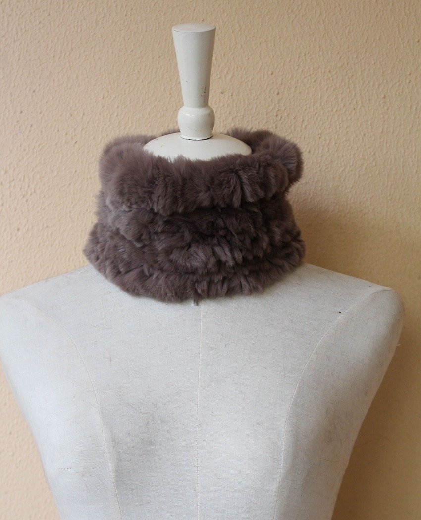 fur scarf rabbit rex for women (2)