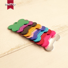 20pcs/lot low price metal craved name id tag blank craved phone number bone sharp dog id tag 10 colors DIT-025(China)